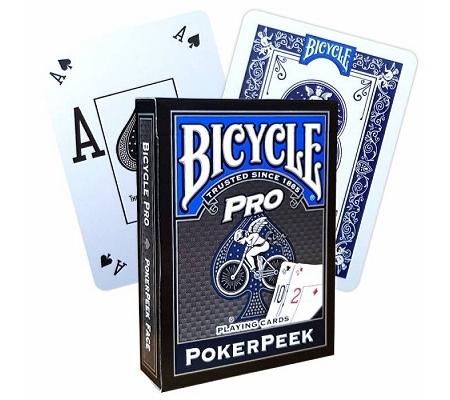 Bicycle Pro Poker Peek Blau