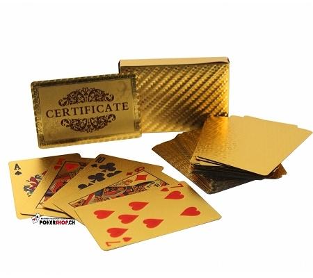 24k Goldbeschichtete Karten
