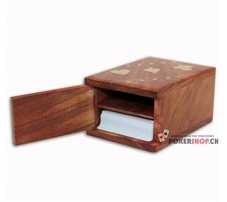 Holzbox für zwei Jasskartendecks