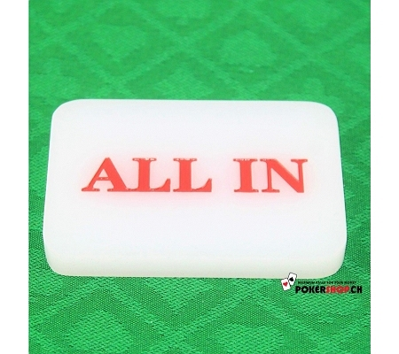 ALL IN Button Weiss
