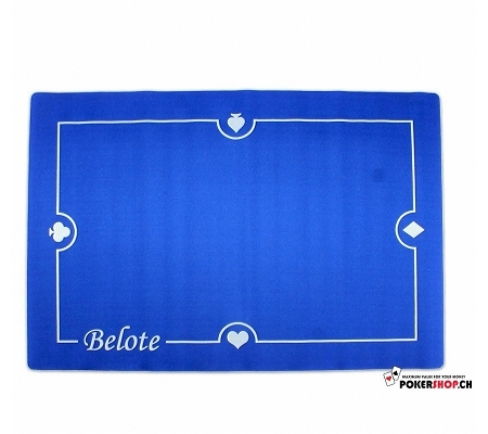 Rubber Tischauflage Belote Blau