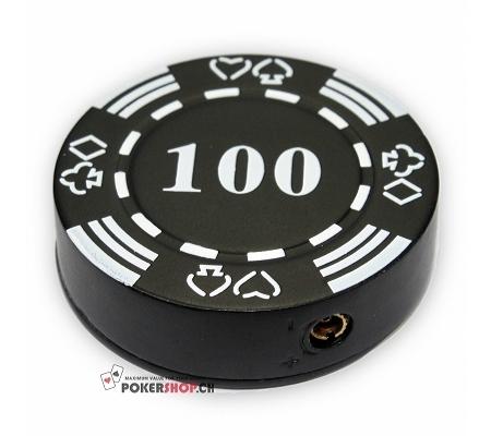 Pokerchip Feuerzeug 100