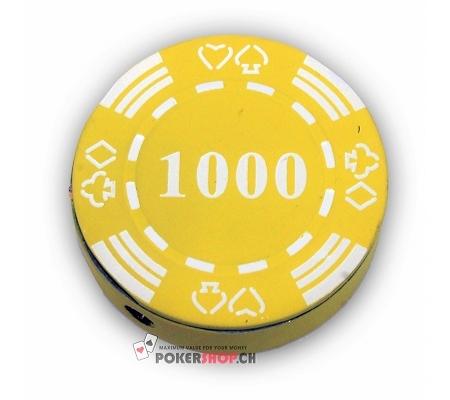 Pokerchip Feuerzeug 1000