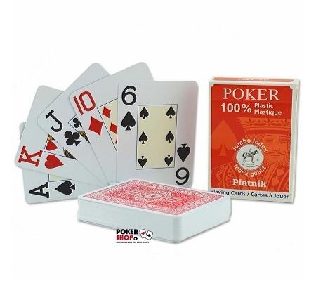 Piatnik Pokerkarten Jumbo Index Rot
