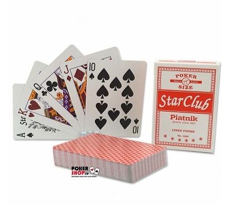 Piatnik Star Club Pokerkarten Rot