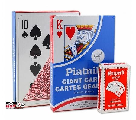 Piatnik XL Spielkarten Rot
