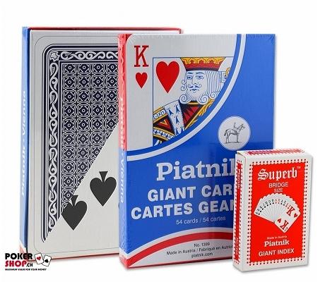 Piatnik XL Spielkarten Blau