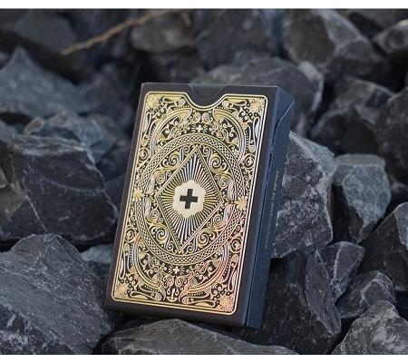 Deluxe Jasskarten, Schwarz/Gold von Schweizer Jass