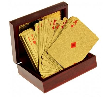 24k Goldbeschichtete Spielkarten in Box