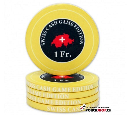 "1 Fr. ""Swiss Cash Game Edition"" Chip"