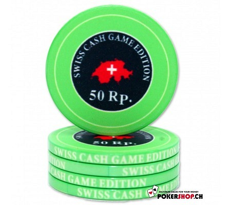 """0.50 Rp.""""Swiss Cash Game Edition"""" Chip"""