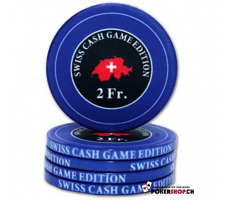 "2 Fr. ""Swiss Cash Game Edition"" Chip"