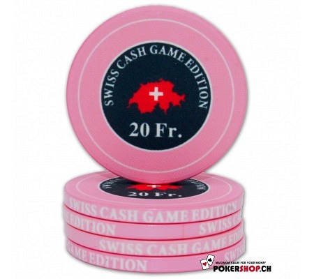"20 Fr. ""Swiss Cash Game Edition"" Chip"