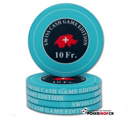 "10 Fr. ""Swiss Cash Game Edition"" Chip"
