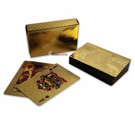 24k Goldbeschichtete Spielkarten