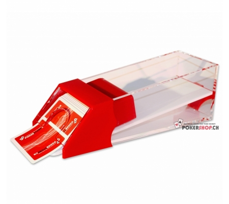 Acryl Card Shoe für 6 Decks Rot