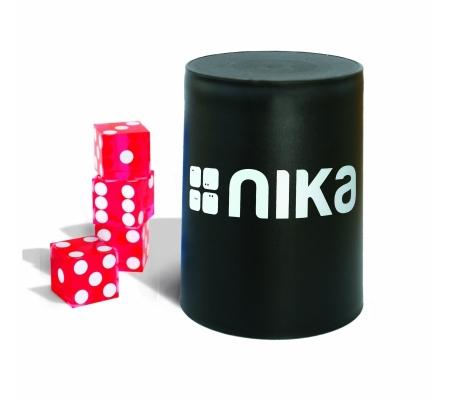 nika Dice Stacking Basic Set Rot