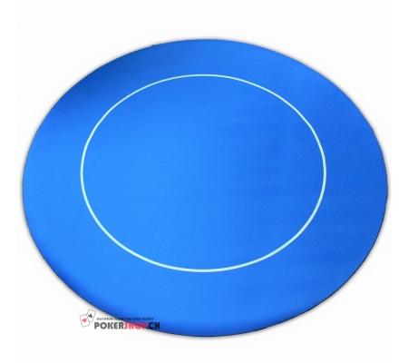 Tischauflage Rund Rubber Blau 90cm