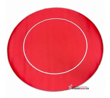 Tischauflage Rund Rubber Rot 90cm