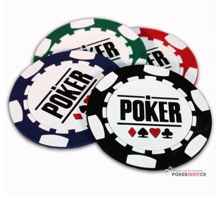 Glasuntersätze Poker 4 Stk.
