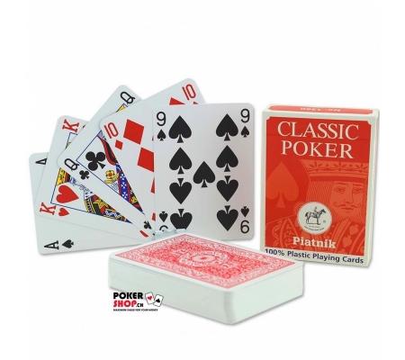 Piatnik Pokerkarten Standard Index Rot