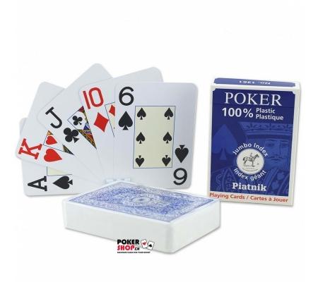 Piatnik Pokerkarten Jumbo Index Blau