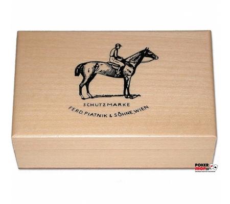 Piatnik Holzbox für zwei Kartendecks