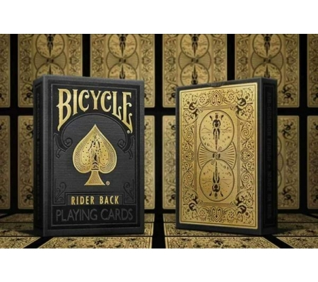 Bicycle Rider Back Black & Gold Limited