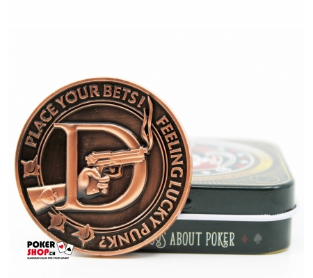 """""""Feeling Lucky Punk?"""" Card Guard/Dealer Button, Limited Edition"""