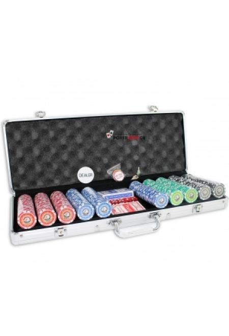 Aufsteller mit 10stk. Original Las Vegas Pokerchips
